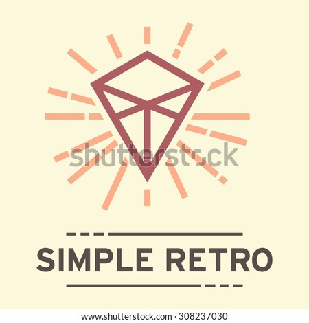 simple retro logo template stock vector royalty free 308237030