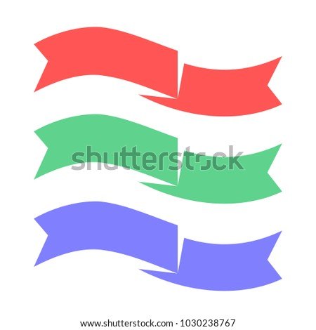 simple ribbon banner fluttering template vector stock vector