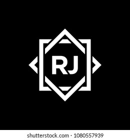 Simple RJ initial Logo design template vector illustration