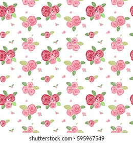 simple rose seamless pattern