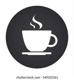 Simple round vectour icon of coffee cup