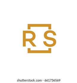 Simple RS initial Logo designs template vector illustration