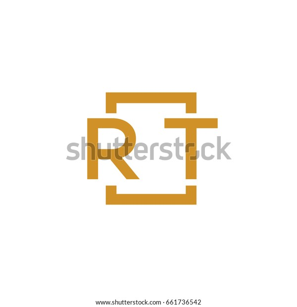 Simple RT initial Logo designs template vector illustration
