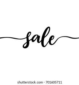 Simple sale sign. Calligraphic text with no ending. Cute little icon for discounts / clearances. Vector illustration.