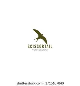 Simple Scissortail Logo Design Vector