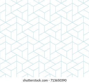 simple seamless geometric grid vector pattern