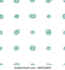 Simple seamless pattern of monochrome vector hand drawn decorative elements on white background. Lineart for textile print and paper