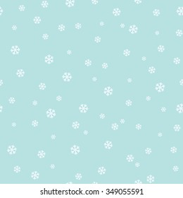 Simple seamless pattern with snowflakes. Vector