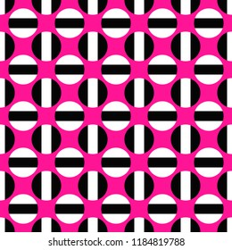 Simple seamless pattern - vector circle design background