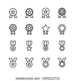 Simple Set of Awards Related Vector Line Icons.