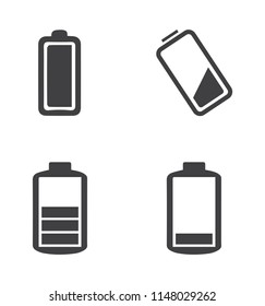 Simple Set of Batteries Related Vector Icons. Contains such Icons as  Battery Life Time and more.