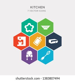simple set of beater, broiler, bun warmer, chopping board icons, contains such as icons coffee machine, colander, cookie cutter and more. 64x64 pixel perfect. infographics vector