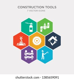 simple set of builder brush, construction works, home repair, blade saw icons, contains such as icons hook with cargo, plumbing pipes, blowtorch and more. 64x64 pixel perfect. infographics vector