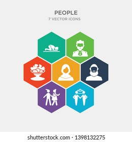 simple set of business partnership, sexual harassment, muslim man, arab woman icons, contains such as icons salat, emperor, sujud and more. 64x64 pixel perfect. infographics vector