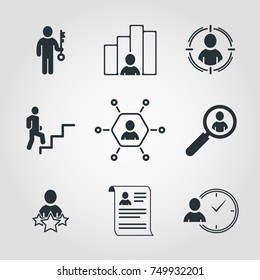 Simple Set of Business Vector icons. Contains Such Icons as Networking, Career Path, Resume And More. Editable Object.