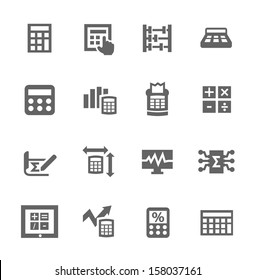 Simple set of calculation related vector icons for your design