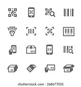 Simple Set of Check code Related Vector Icons for Your Design.