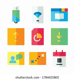 Simple Set Computer Function Vector Color Icons