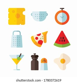 Simple Set Cooking Vector Color Icons. Color with Editable stroke