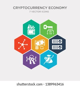 simple set of crypto invest, crypto key, crypto records, currency circulate icons, contains such as icons decentralized, digital key, digital wallet and more. 64x64 pixel perfect. infographics