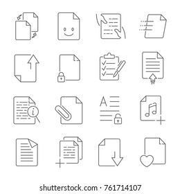 Simple Set of Document Flow Management Vector Line Icons.  Contains such Icons as Bureaucracy, Batch Processing, Accept, Decline Document and more. Editable Stroke.