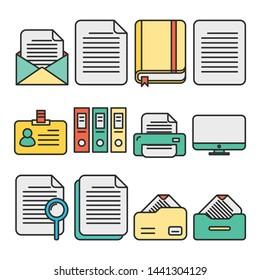 Simple set of document icon.