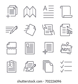 Simple Set of Document Icons. Contains such Icons as Batch Processing, Legal Documents, Clipboard, Download, Document Flow and more. Editable Stroke.