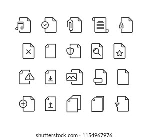 Simple Set of Document Vector Line Icons. Contains such Icons as Bureaucracy, Batch Processing, Accept, Decline Document and more. Editable Stroke. 48x48 Pixel Perfect.
