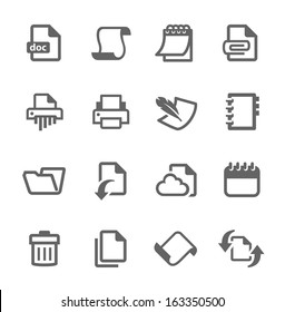 Simple set of documents related vector icons for your design.