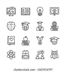 Simple Set of Education Related Vector Line Icons.