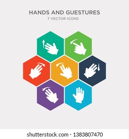 simple set of five fingers, fleck left gesture, flick down gesture, flick left gesture icons, contains such as icons flick right to left up and more. 64x64 pixel perfect. infographics vector