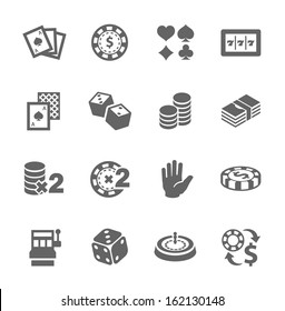 Simple set of gambling related vector icons for your design.