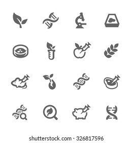 Simple Set GMO of Fight Related Vector Icons for Your Design.