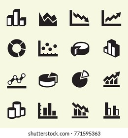 Simple Set of Graph Related Vector Icons illustration