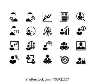 Simple Set of Head Hunting Related Vector Line Icons. Contains such Icons as Job Interview, Career Path, Resume and more. Editable Stroke. 48x48 Pixel Perfect