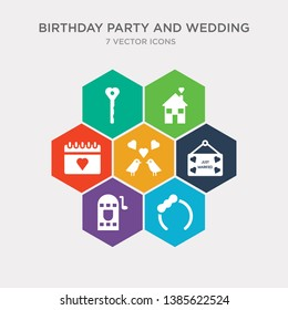 simple set of headband, jukebox, just married, love birds icons, contains such as icons love calendar, love house, key and more. 64x64 pixel perfect. infographics vector