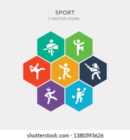 simple set of hurling, judo, kendo, kickball icons, contains such as icons kickboxing, kung fu, lacrosse and more. 64x64 pixel perfect. infographics vector