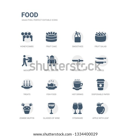 Simple Set Icons Such Apple Leaf Stock Vector (Royalty Free