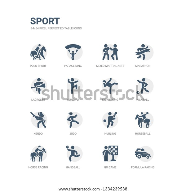 Simple Set Icons Such Formula Racing Stock Vector (Royalty