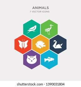 simple set of japan koi fish, japanese cat head, origami swan, blowfish icons, contains such as icons japanese butterfly, heron, swallow and more. 64x64 pixel perfect. infographics vector