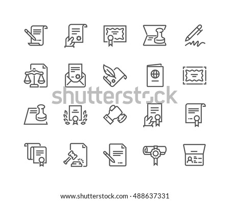 Simple Set Legal Documents Related Vector Stock Vector Royalty Free - Simple legal documents