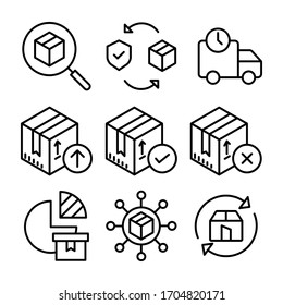 Simple Set Of Logistic Delivery Related Vector Line Icons.