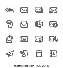 Simple Set of Mail Related Vector Icons for Your Design.