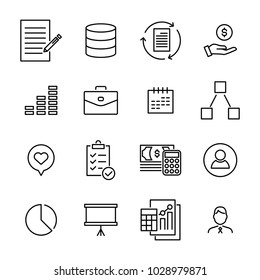 Simple set of management related outline icons. Elements for mobile concept and web apps. Thin line vector icons for website design and development, app development. Premium pack.