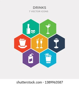 simple set of mint julep, ramos gin fizz, daiquiri, french 75 icons, contains such as icons manhattan drink, sidecar drink, alcohol and more. 64x64 pixel perfect. infographics vector