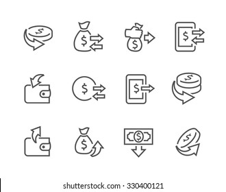 Simple Set of Money Related Vector Icons for Your Design