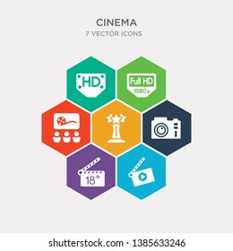 simple set of movie clapper open, plus 18 movie, dslr camera, award icons, contains such as icons people watching a movie, 1080p full hd, hd and more. 64x64 pixel perfect. infographics vector
