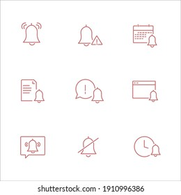 Simple Set of Notification Related Vector Line Icons. Contains such Icons as Mute, Notice, Notification Bell and more.