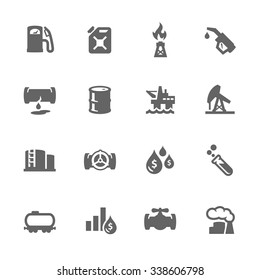 Simple Set of Oil Related Vector Icons. Contains such icons as rig, oil barrel, tube, flame and more. Modern vector pictogram collection.