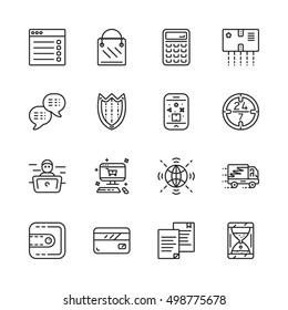 Simple set of online pay related vector icons